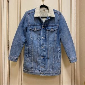 H&M fleece lined Jean jacket size 4
